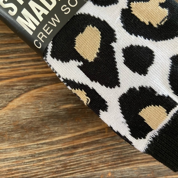 Steve Madden Leopard Cheetah Ankle Socks 3 Pack Animal Print Womens NWT